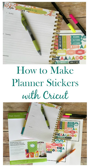 Did you know that you can make planner stickers with your Cricut? Choose from standard designs or make your own custom stickers!