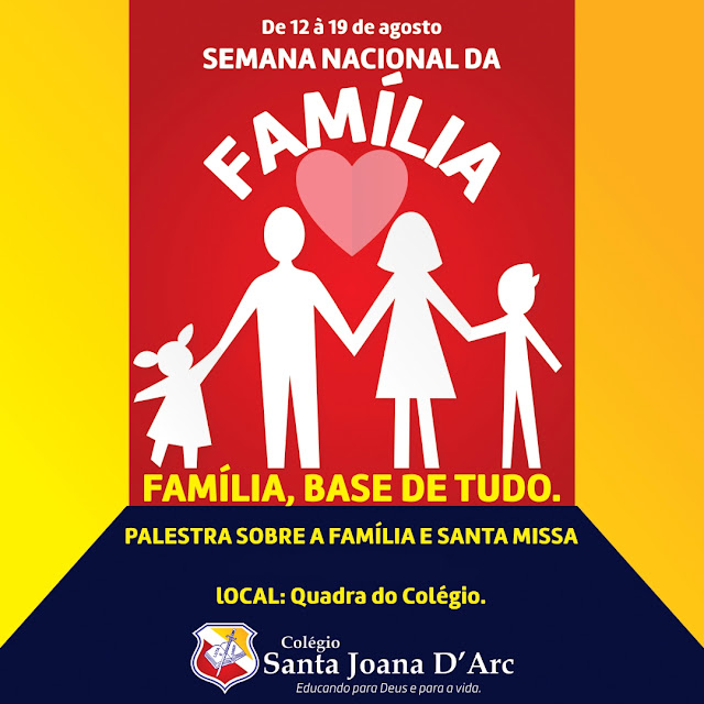 O CSJD, juntamente com a igreja do Sagrado Coração de Jesus, fecha a Semana Nacional da Família em clima de muito dinamismo e fé.