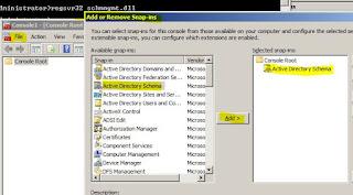 active directory adding schema to mmc