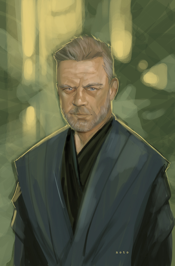 The Geeky Nerfherder: Cool Art: 'Jedi Master Luke ...