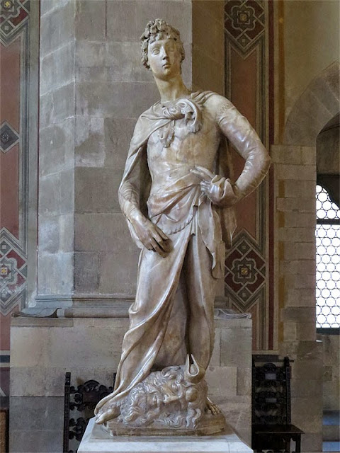 The marble David by Donatello, Museo Nazionale del Bargello, Florence