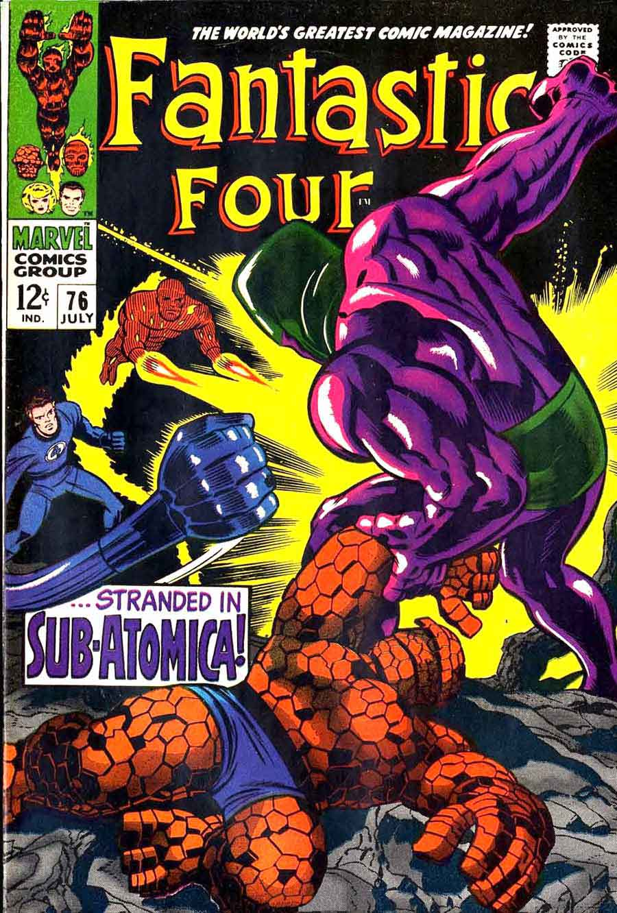 Fantastc Four v1 #76 marvel 1960s silver age comic book cover art by Jack Kirby