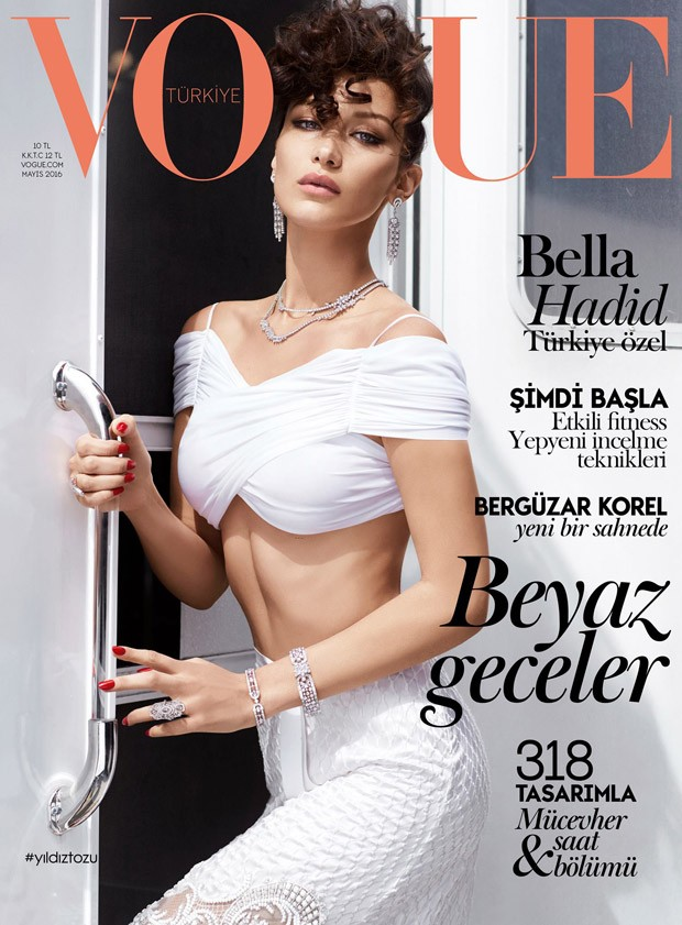 Bella Hadid covers Vogue Turkey May 2016 in Givenchy