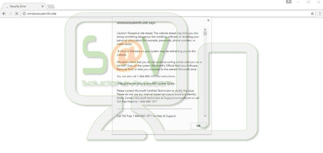 """Security Error: 0x80070643"" pop-ups (Falso soporte)"