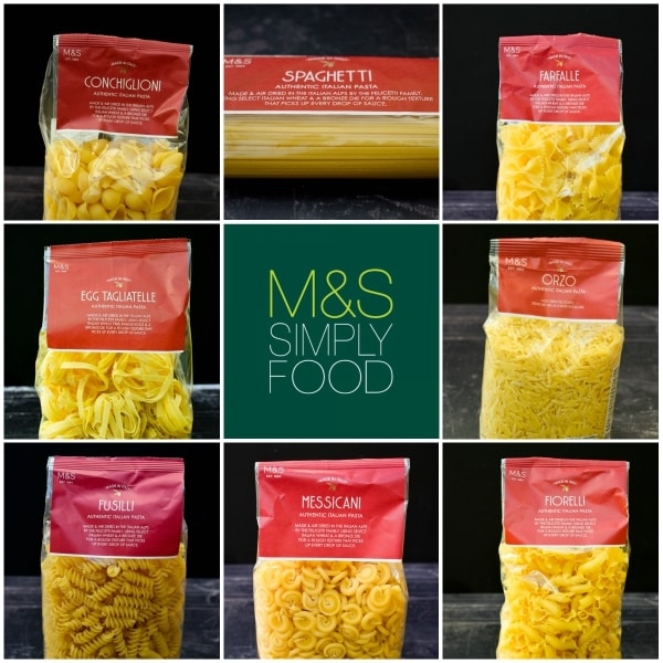 M&S pasta selection
