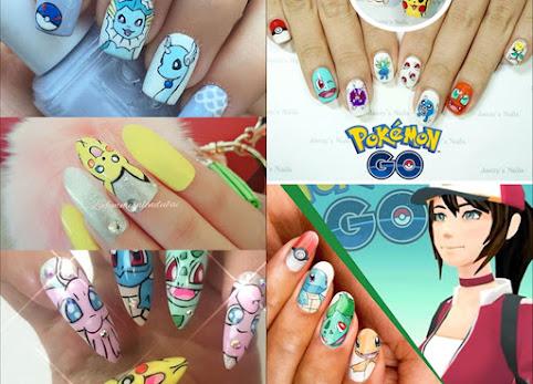 Pokemony na paznokciach. Paznokcie z pokemonami. Pokemonnails - nowy trend w zdobieniu paznokci. Zdjęcia.
