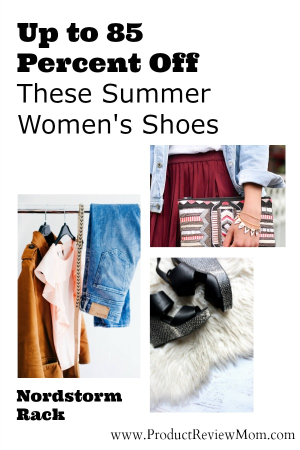 Up to 85 Percent Off These Summer Women's Shoes at Nordstorm Rack  via  www.productreviewmom.com