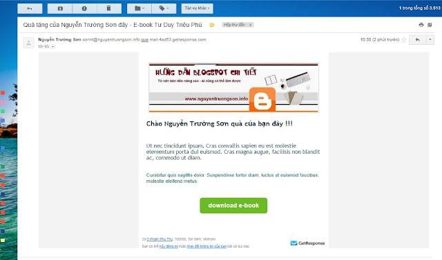 Hướng dẫn sử dụng GetResponse - Tạo Email Marketing trả lời tự động