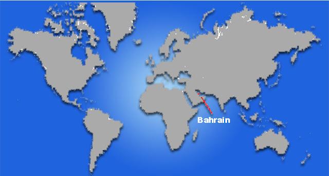 Gambar Peta letak negara Bahrain