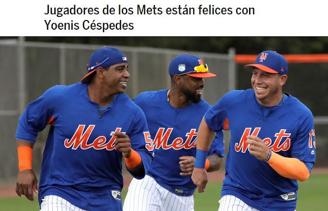 Peloteros y entrenadores de los Mets ven en Céspedes una figura amigable, talentosa, divertida y sobre todo un excelente atleta
