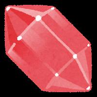 鉱石のイラスト(赤)