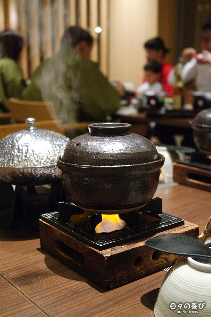 brasero pour cuisson du riz cuisine kaiseki