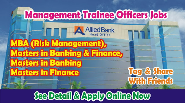 Management Trainee Jobs in Allied Bank for Fresh Masters ABL MTO Jobs