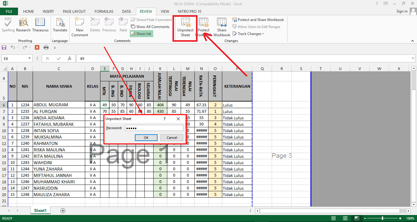 Workbooks excel 2013 unprotect workbook : Cara Memproteksi Sel, Worksheet Dan Workbook di Microsoft Excel ...