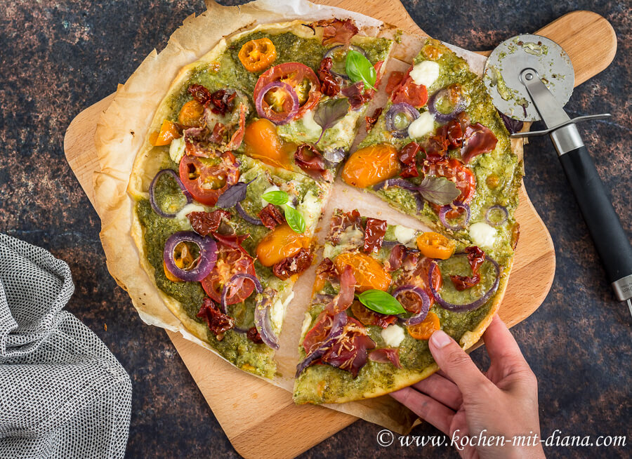 Resteverwertungs-Pizza