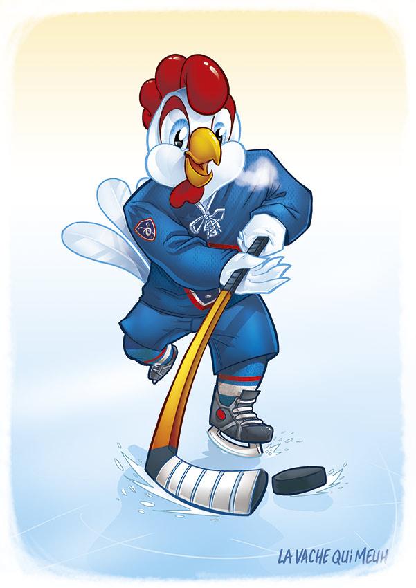 conception et création de la mascotte de l'équipe de france de hockey sur glace