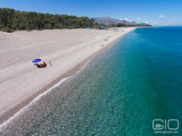 Photo: Sicily east coast beach aerial