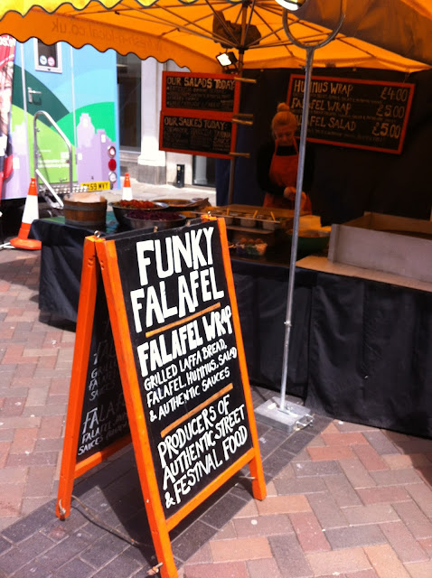 Funky Felafel gloucester farmers market, Fresh N local