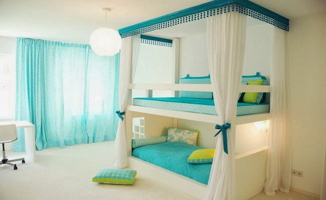 Home decor ideas girls bedroom decorating ideas with bunk - Bunk bed decorating ideas ...