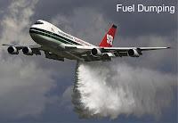 Fuel dumping de um avião