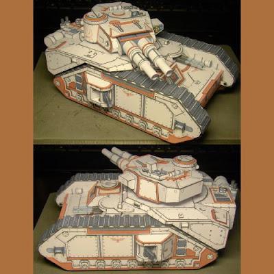 WH40K Macharius Tank Paper Model