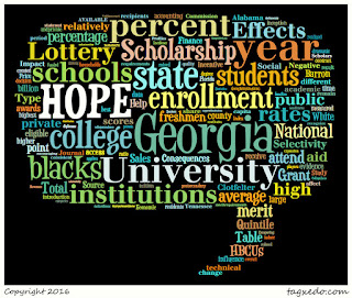 Word cloud of article - Race and the Effects of Georgia's HOPE Scholarship