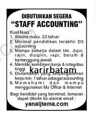 Lowongan Kerja PT. Yanal Tama Indonesia