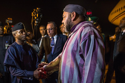 King  Mohammed VI of Morocco arrived Nigeria Last Night