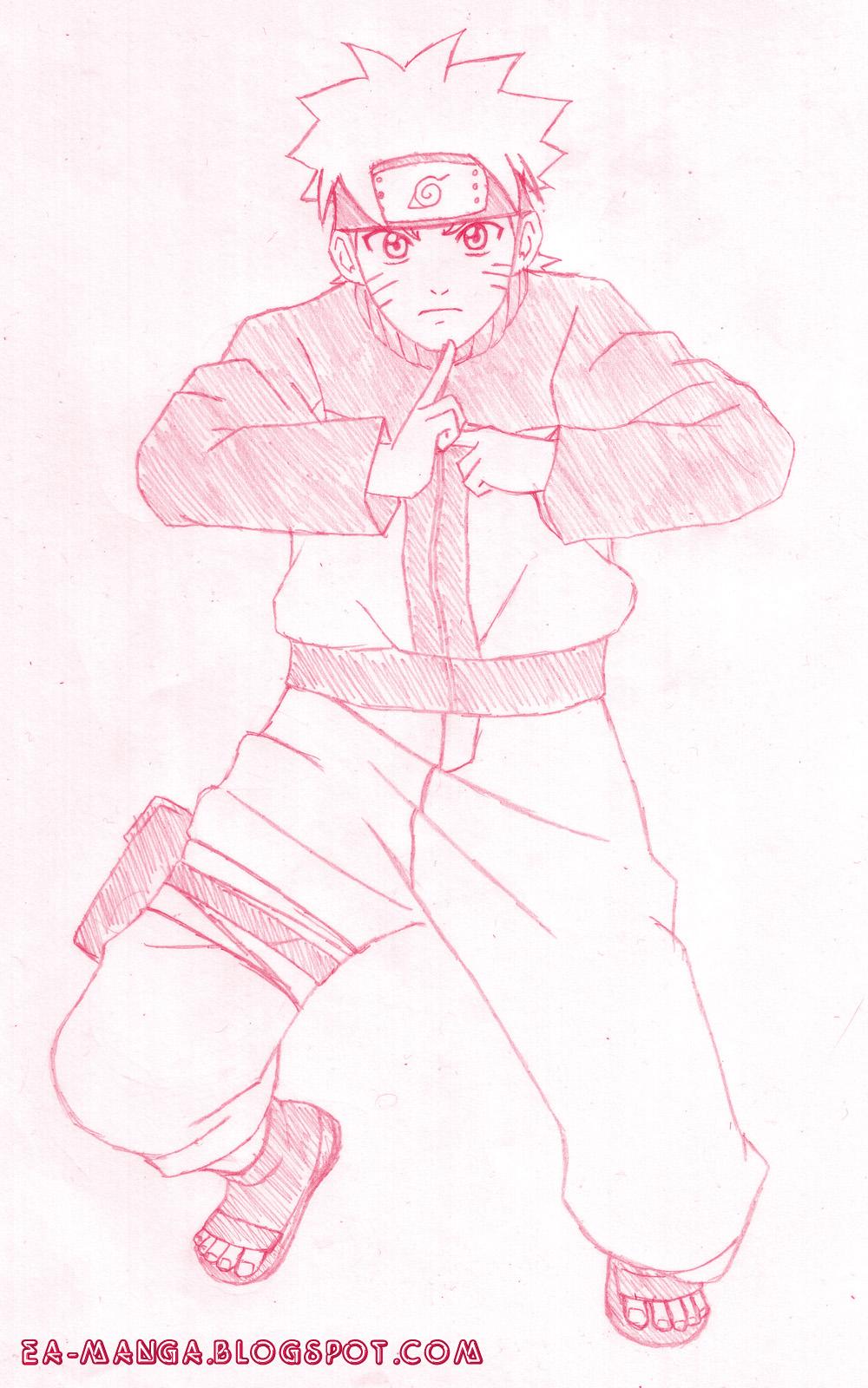 Cara Menggambar Naruto Uzumaki Manga Council
