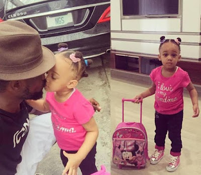 Jude Okoye shares Cute photos of his Daughter! Emma first day in school.
