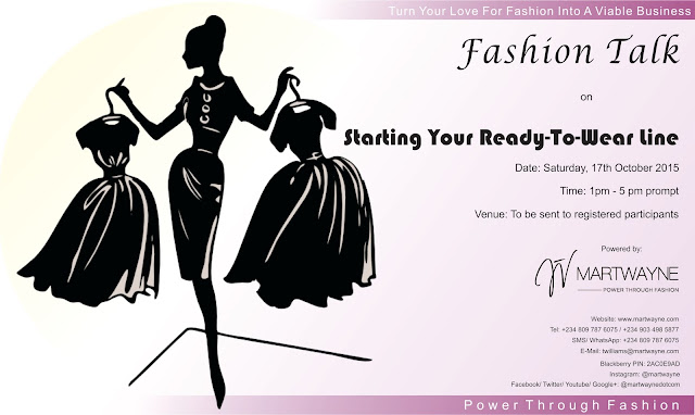 "What Happened @ Fashion Talk on ""Starting a Ready to Wear Line"" on Saturday the 17th of October, 2015… :-D"