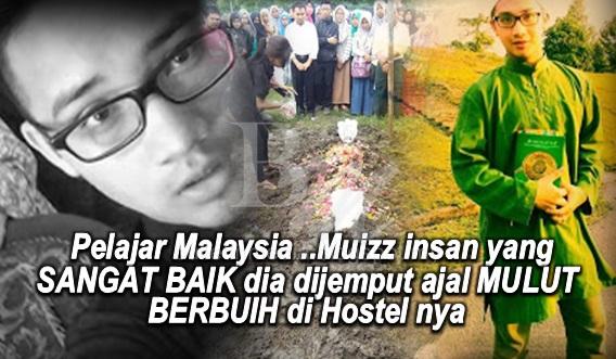 Sayu : Pelajar Malaysia ..Muizz insan yang SANGAT BAIK dia dijemput ajal MULUT BERBUIH di Hostel nya di Surabaya (8Gambar)