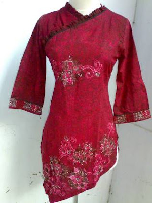 model baju batik atasan wanita muda