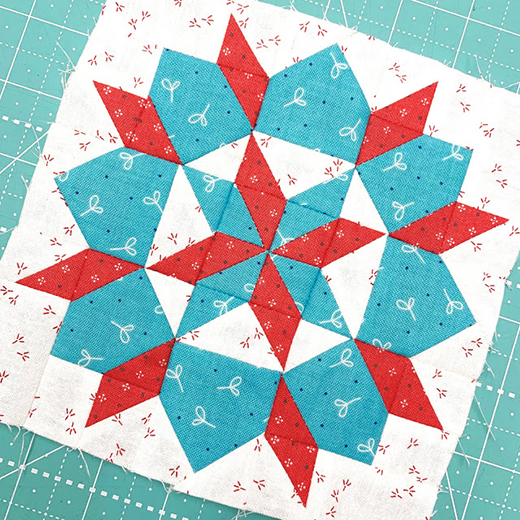 Grandma's Star Quilt Block Free Tutorial designed by Lori of Bee In My Bonnet