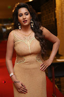 Actress Himaja Stills in Golden Spicy Long Dress at SIIMA Short Film Awards 2017 .COM 0265.JPG