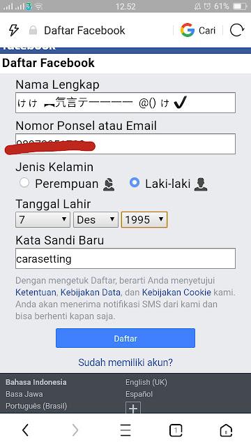 Cara Menciptakan Akun Sniper Fb (Nama Unik Facebook) 2