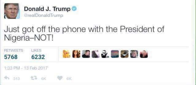Donald Trump allegedly denies Buhari phone call