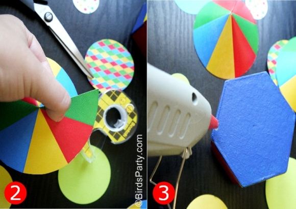 DIY circus tent favor boxes