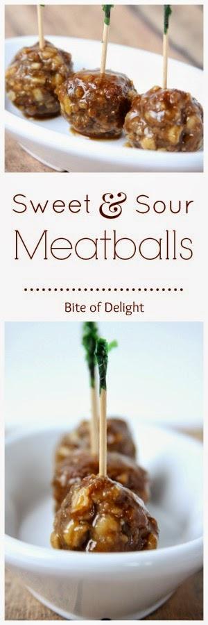 Sweet & Sour Meatballs | Appetizer | Easy Recipe