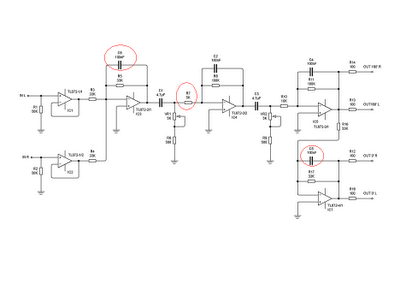 11-90 HZ SUBWOOFER FILTER USING TL072 OP-AMP CIRCUIT