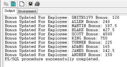 Select bulk collect into example Oracle