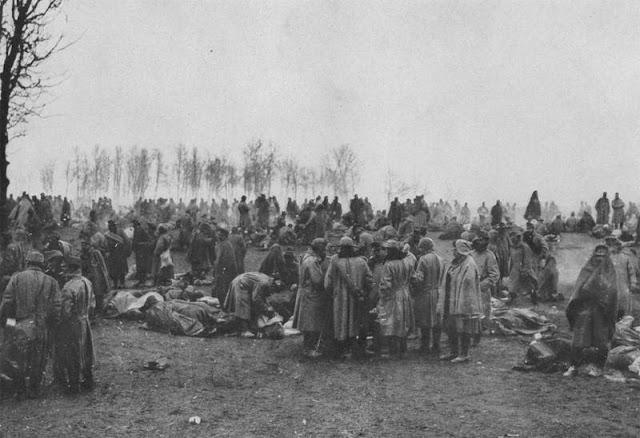Австрийские военнопленные захваченные в Карпатах.