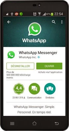 comment installer WhatsApp Messenger dans l'ordinateur