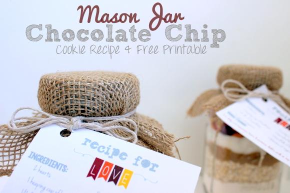 Mason Jar Chocolate Chip Cookies