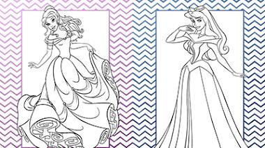 Imprimir y colorear princesas disney