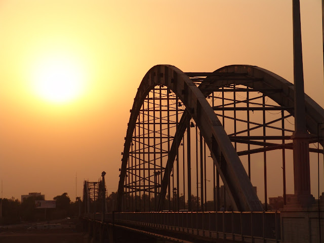 A bridge over Karun River in Ahvaz.