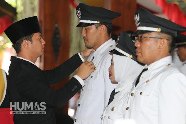 Wakil Bupati Trenggalek Lantik 131 Kepala Desa Terpilih dan Penjabat Kepala Desa Nglinggis