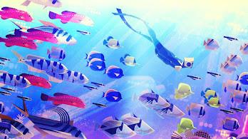 Underwater, Fish, Digital Art, Abstract, 4K, #4.2070