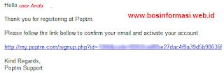 Link verifikasi poptm