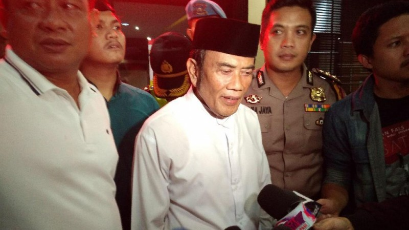 Rhoma Irama di Mapolres Jakarta Barat